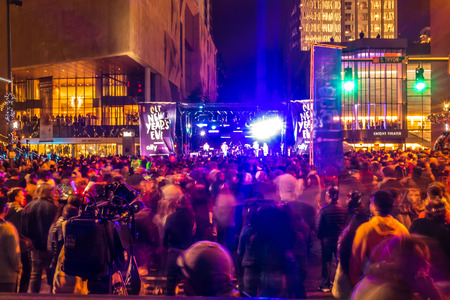 larged crowds gathered to celebrate first night of new year in charlotte nc