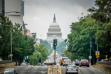 Capitol building in washington DC in spring Publikacyjne