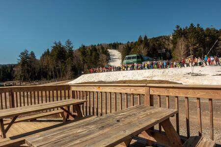 Beautiful nature and scenery around snowshoe ski resort in cass west virginia Standard-Bild