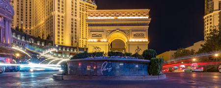 paris las vegas nevada hotel at night Zdjęcie Seryjne - 127811522