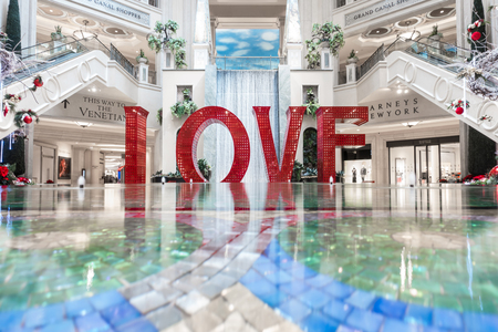 love sign letters installation in las vegass nevada