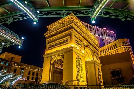 paris las vegas nevada hotel at night Zdjęcie Seryjne - 127811574