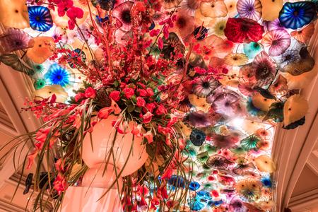 indoors of bellagion hotel in las vegas decorations Zdjęcie Seryjne - 127811587