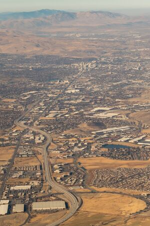 flying over reno nevada and the rockies