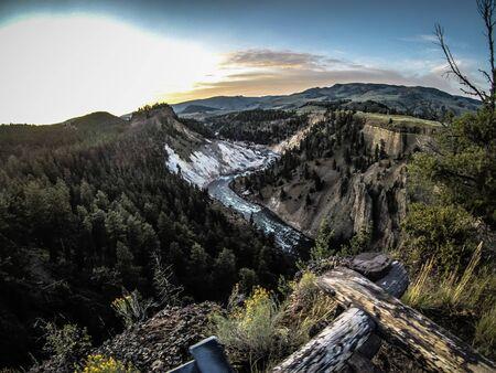 scenes around yellowstone national park