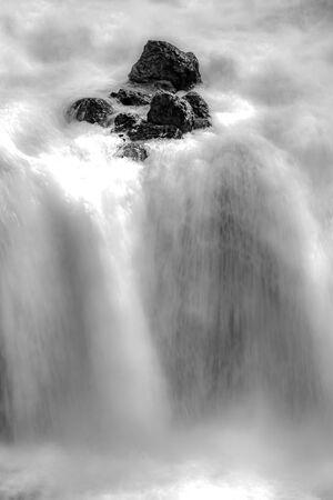 firehole river and waterfalls in yellowstone wyoming Zdjęcie Seryjne