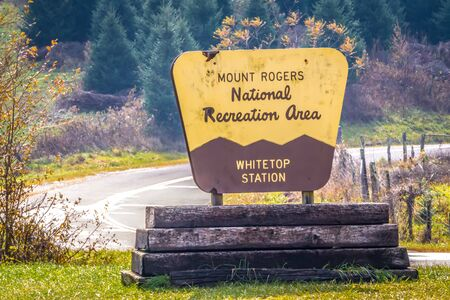 whitetop mountain sign in virginia