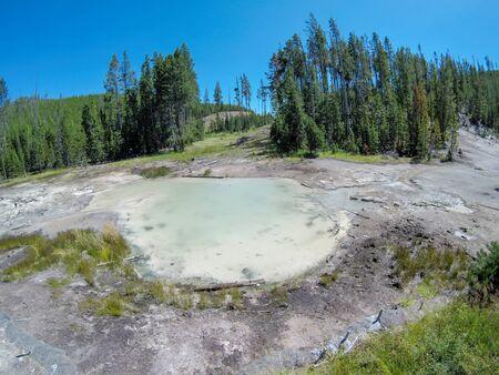 Artists Paint Pots Yellowstone wyoming Zdjęcie Seryjne