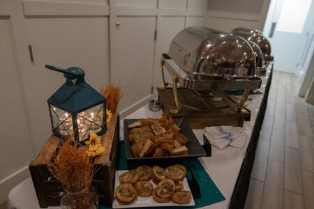 buffet and decorations at an event