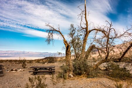 sunrise in death valley california desert