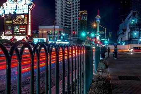 night scenes on the streets of las vegas strip 版權商用圖片