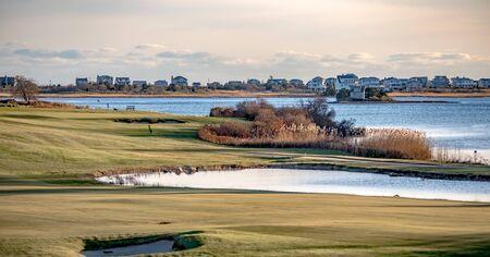 weekapaug golf club landscapes in rhode island 版權商用圖片