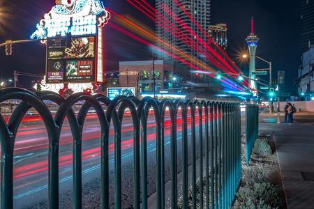 night scenes on the streets of las vegas strip 新聞圖片