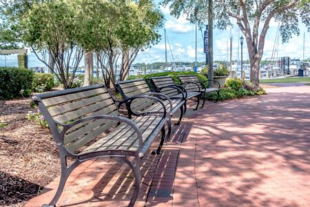 beaufort south  carolina downtown waterfront on sunny day