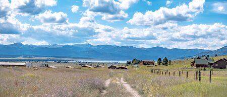 hebgen lake landscape in montana Banco de Imagens