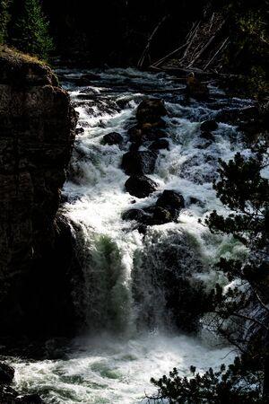 at firehole waterfalls i yellowstone wyoming Banco de Imagens