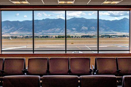 Bozeman montana airport and rocky mountains Banco de Imagens