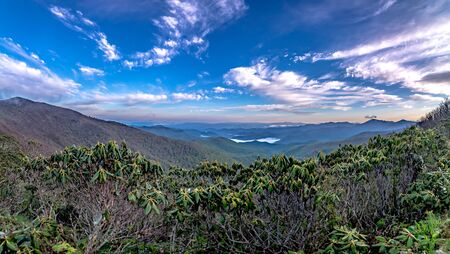 blue ridge mountains near mount mitchell and cragy gardens