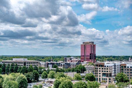 Downtown of Charlotte North Carolina skyline  Banco de Imagens