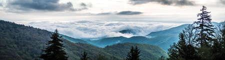 spring time on blue ridge parkway mountains 版權商用圖片 - 153271210