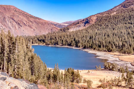 scenery near and around tioga pass in sierra mountains