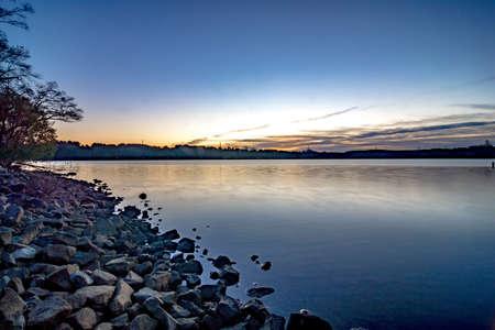 mountain island lake near lake norman north carolina 版權商用圖片