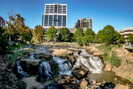 greenville south carolina on reedy river in downtown