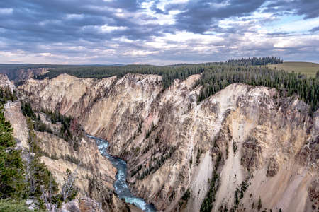 Lower Yellowstone Falls in the Yellowstone National Park