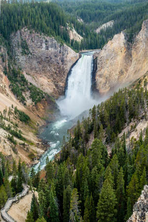 upper falls in yellowstone national park wyoming