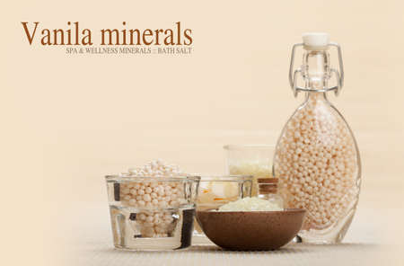 Vanila minerals for spa and aromatherapy photo