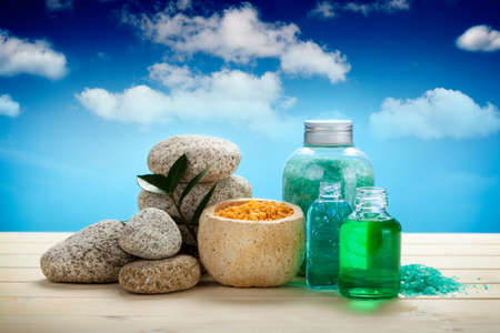 Spa and aromatherapy - oils and bath salt photo