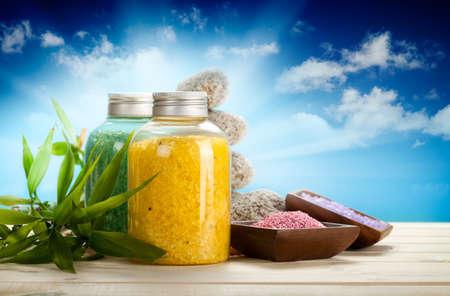 Aromatherapy bath salt Stock Photo - 10472466