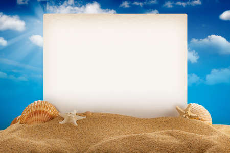 vacation: Summer background  Stock Photo