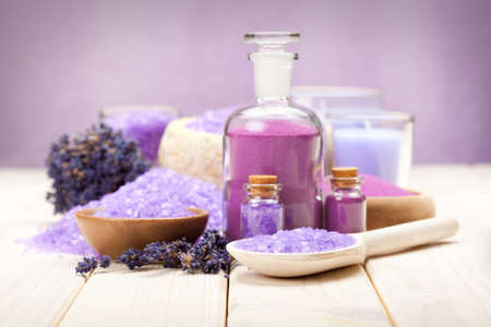 aromatherapy: Spa Treatment - Lavender aromatherapy Stock Photo