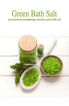 mineral oil: Green bath salt