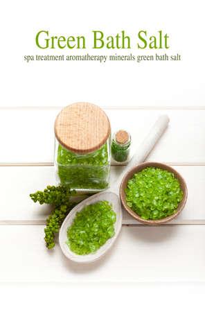 olio corpo: Sale da bagno verde