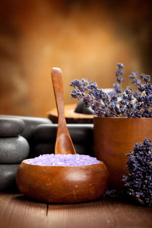 Beauty treatment - lavender spa  Stock Photo - 10528536