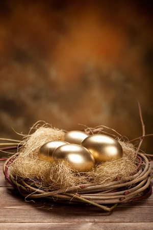 Golden nest eggs photo