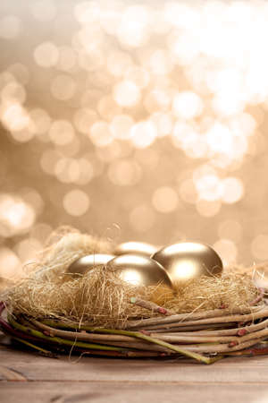 Golden nest eggs photo