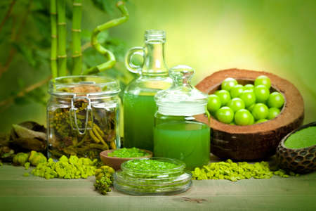 Spa treatments - aromatherapy minerals photo