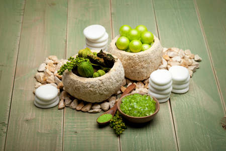 Spa treatment - bath salt Stock Photo - 10544844
