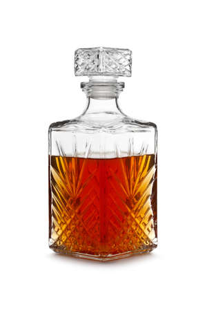 Whisky decanter Stock Photo