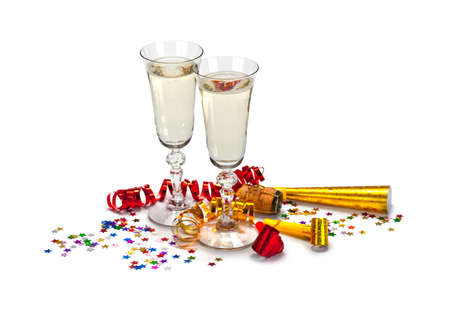 Glasses of champagne Imagens
