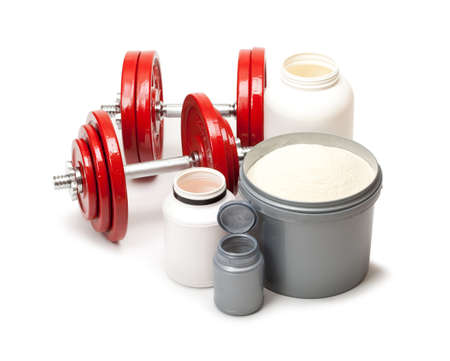 kilos: Dietary supplements and steel dumbbells