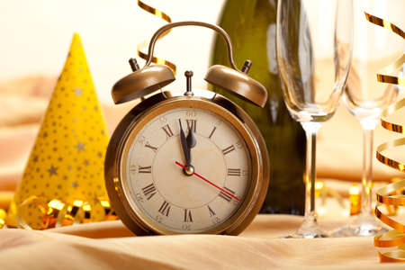 New year - clock face and decorations Stock Photo - 10570747