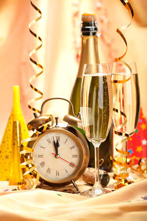 new years eve background: Happy new year - party decoration