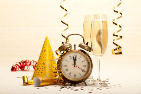 Happy new year - party decoration Stock Photo - 10570574