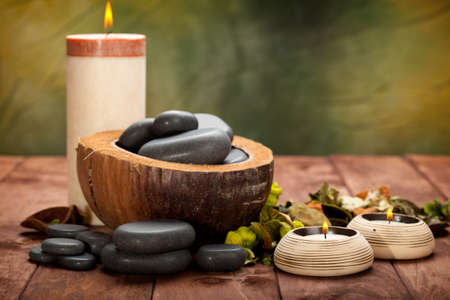 Spa treatment - massage stones Stock Photo