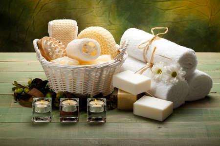 Aromathérapie - Massage des outils Banque d'images