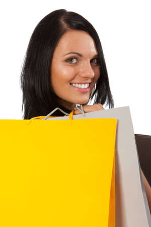 Shopping - Young woman Stock Photo - 10582645